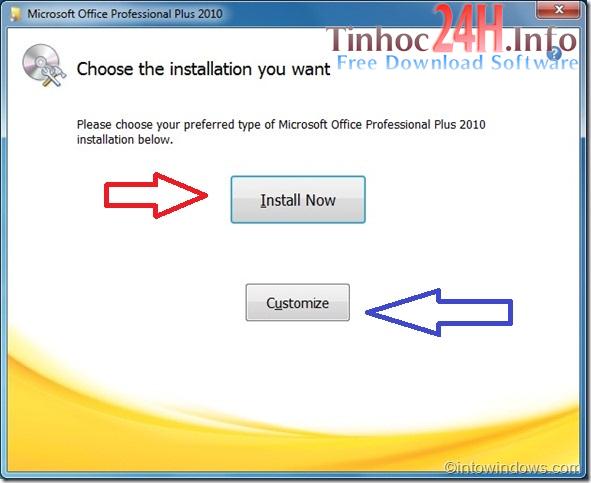 Hướng dẫn cài đặt MS Office Professional Plus 2010 bước 3