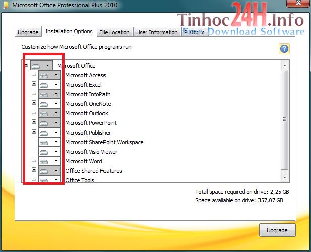 Hướng dẫn cài đặt MS Office Professional Plus 2010 bước 4