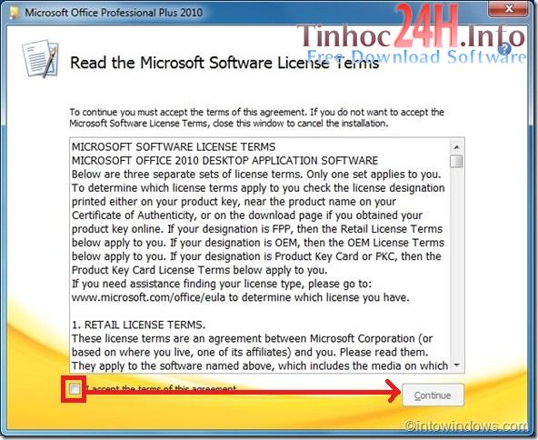 Hướng dẫn cài đặt MS Office Professional Plus 2010 bước 2