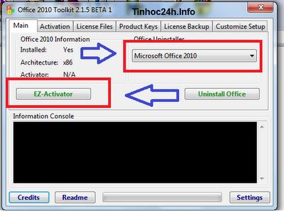 Hướng dẫn crack MS Office Professional Plus 2010